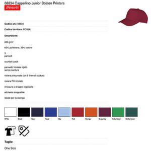 Cappellino Boston bambino